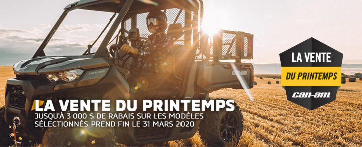 Vente du printemps Can-Am